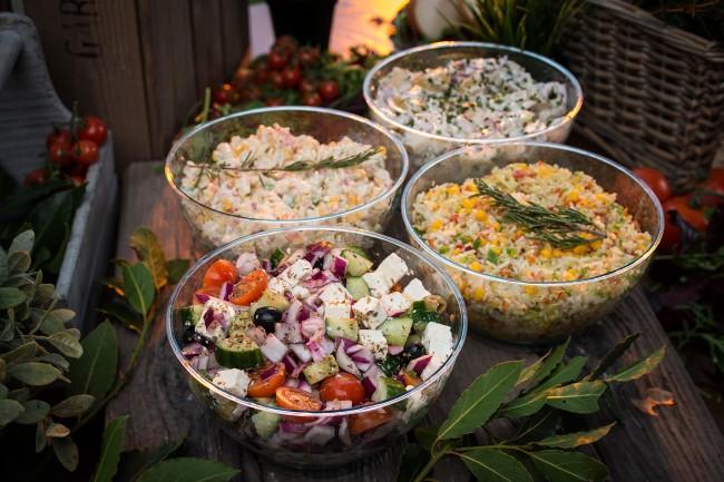 A Selection of Freshly Handmade Salads
